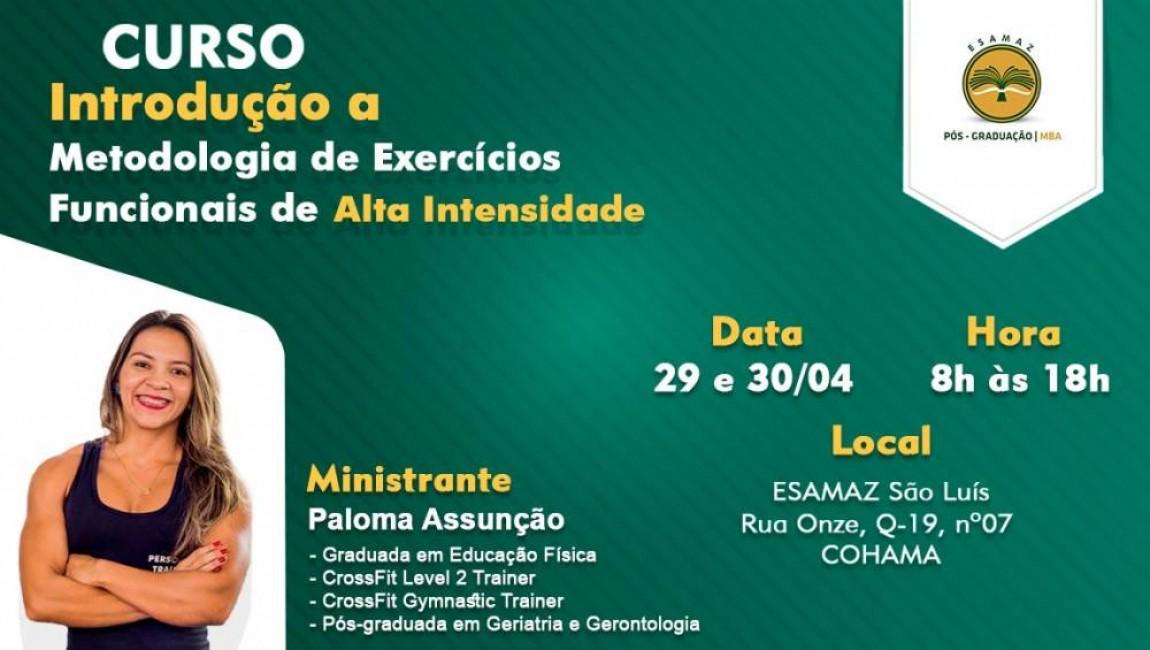 Introdução a Metodologia de Exercícios Funcionais de Alta Intensidade - São Luís/MA