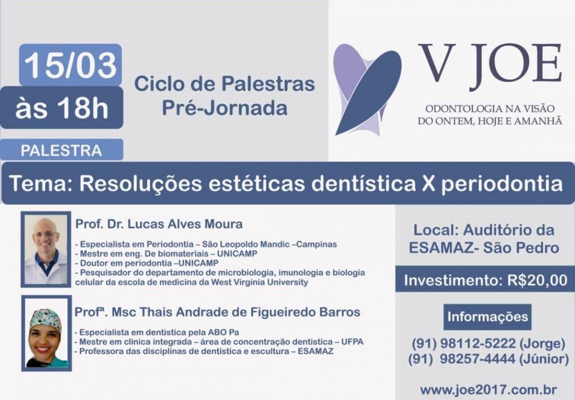 Centro Acadêmico de Odontologia promove Ciclo de Palestras da Pré-Jornada 2017 na Esamaz