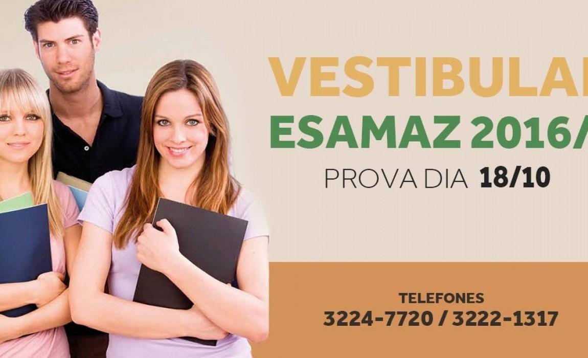 Inscrições abertas para o Vestibular Esamaz 2016/1