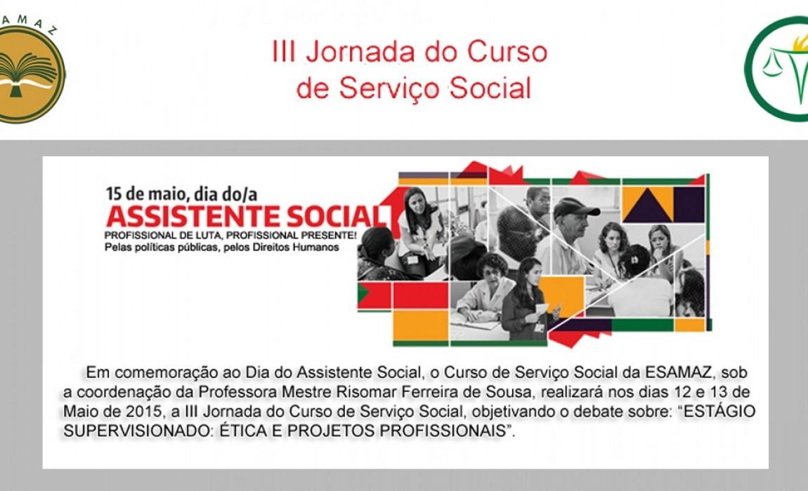 Esamaz promove III Jornada do Curso de Serviço Social