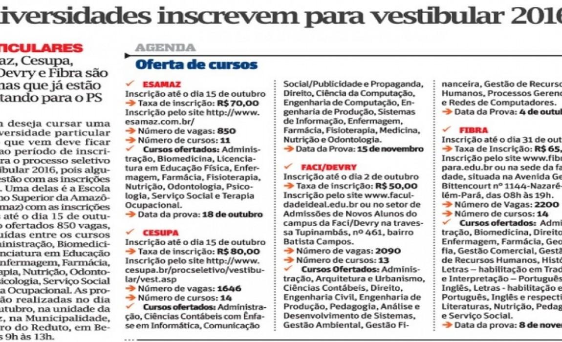 Vestibular da Esamaz e projeto de Biomedicina são destaque na mídia