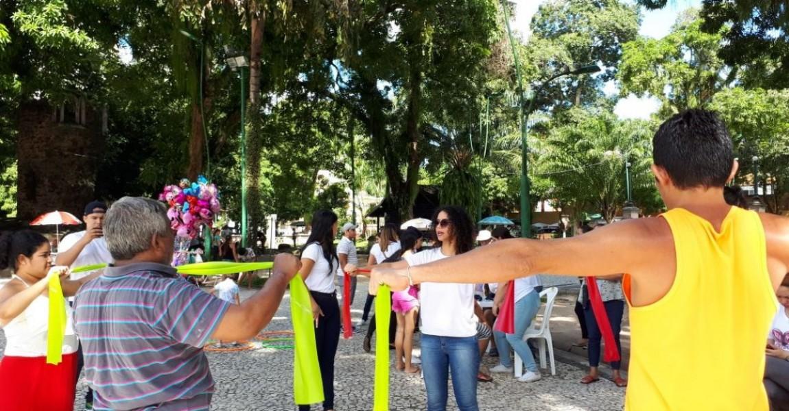Acadêmicos de Fisioterapia da Esamaz comemoram Dia Mundial da Saúde em Belém