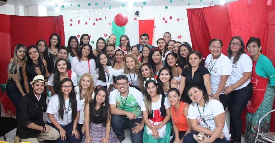 Acadêmicos de Nutrição promoveram degustação da culinária nacional e internacional