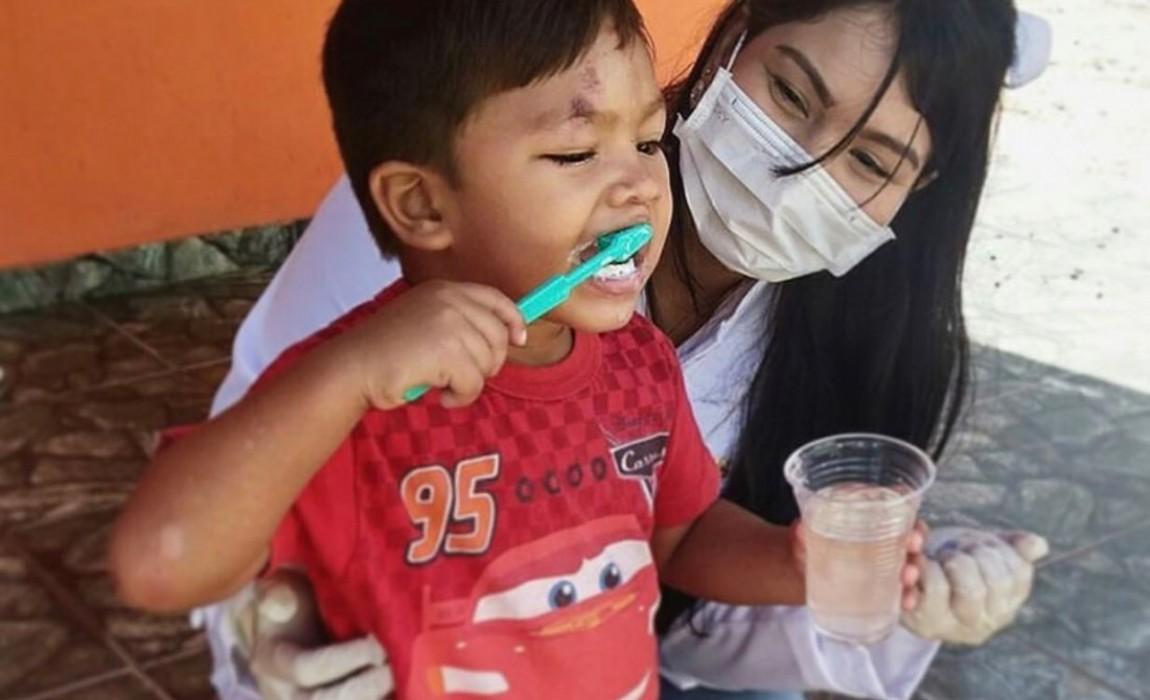 Ações Sociais da 6ª JOE atenderam cerca de 300 crianças e idosos em Belém e Bujaru