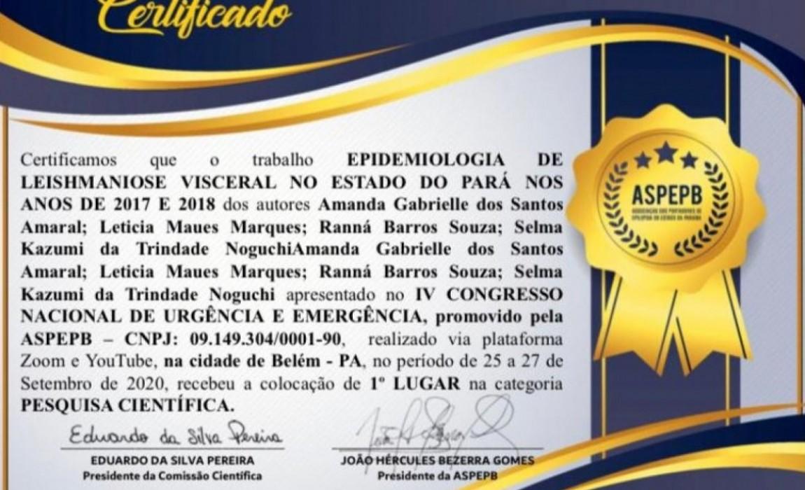 Alunas de Fisioterapia da ESAMAZ levam 1º,  2º e 3º lugar em trabalho apresentado no IV Congresso Nacional de Urgência e Emergência da ASPEPB