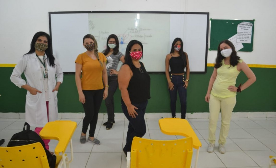 Retorno às aulas presenciais foi tranquilo e muito comemorado pelos alunos da Esamaz