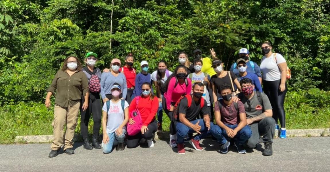 Alunos de Biomedicina da Esamaz participam de aula de campo no Parque Ambiental do Utinga
