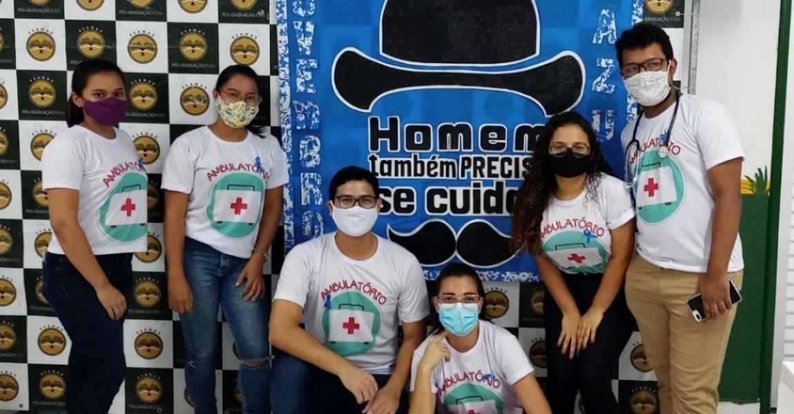 Alunos de Enfermagem da Esamaz fazem atividades em alusão ao Novembro Azul