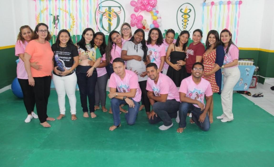 Alunos de Enfermagem da Esamaz realizam oficina com orientações para mulheres grávidas