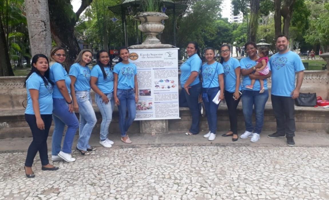 Alunos de Enfermagem realizam ação preventiva na Praça Batista Campos, em Belém