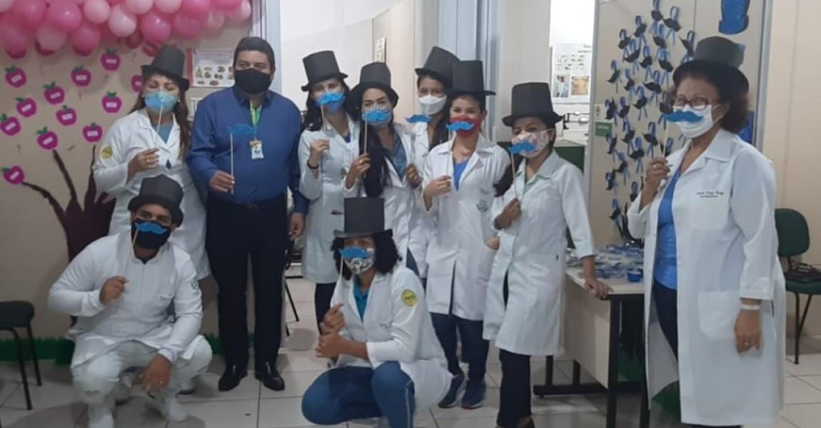 Alunos do 8º semestre do curso de Nutrição da Esamaz fazem atividades lúdicas sobre Novembro Azul