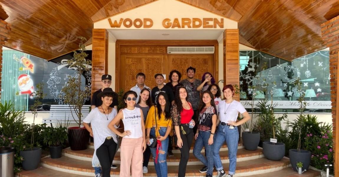 Alunos do curso de Arquitetura e Urbanismo da Esamaz aprendem técnicas da Madeira Laminada Colada