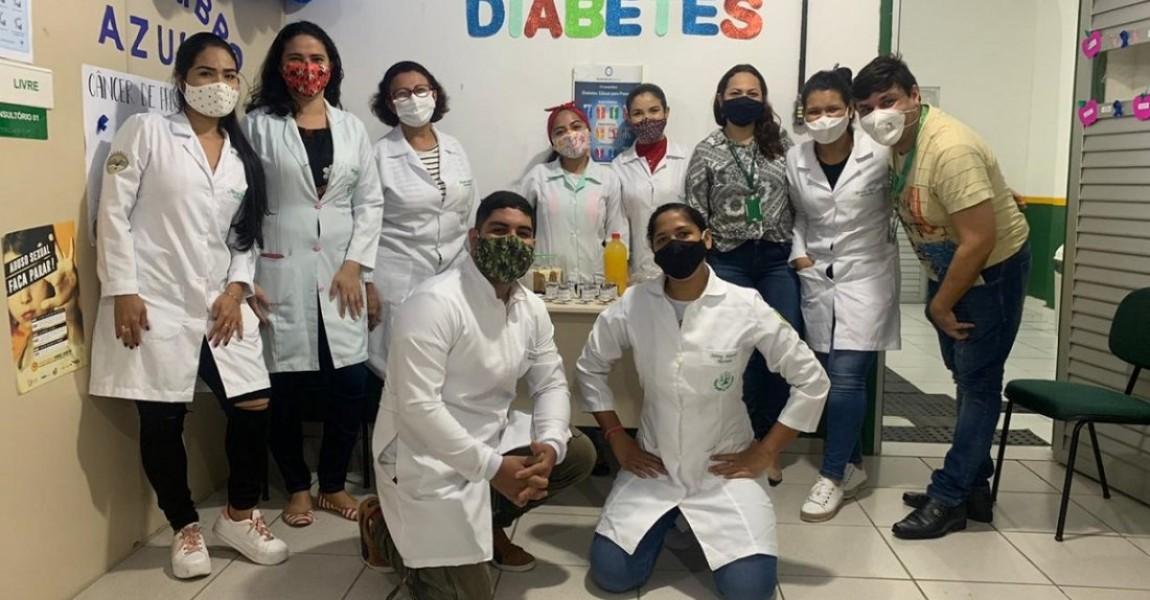 Alunos do curso de Nutrição da Esamaz realizam atividades educativas nutricionais para os pacientes diabéticos