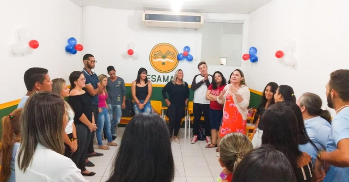 Calouros de Fonoaudiologia foram recepcionados por veteranos do 7º semestre e professores na Esamaz