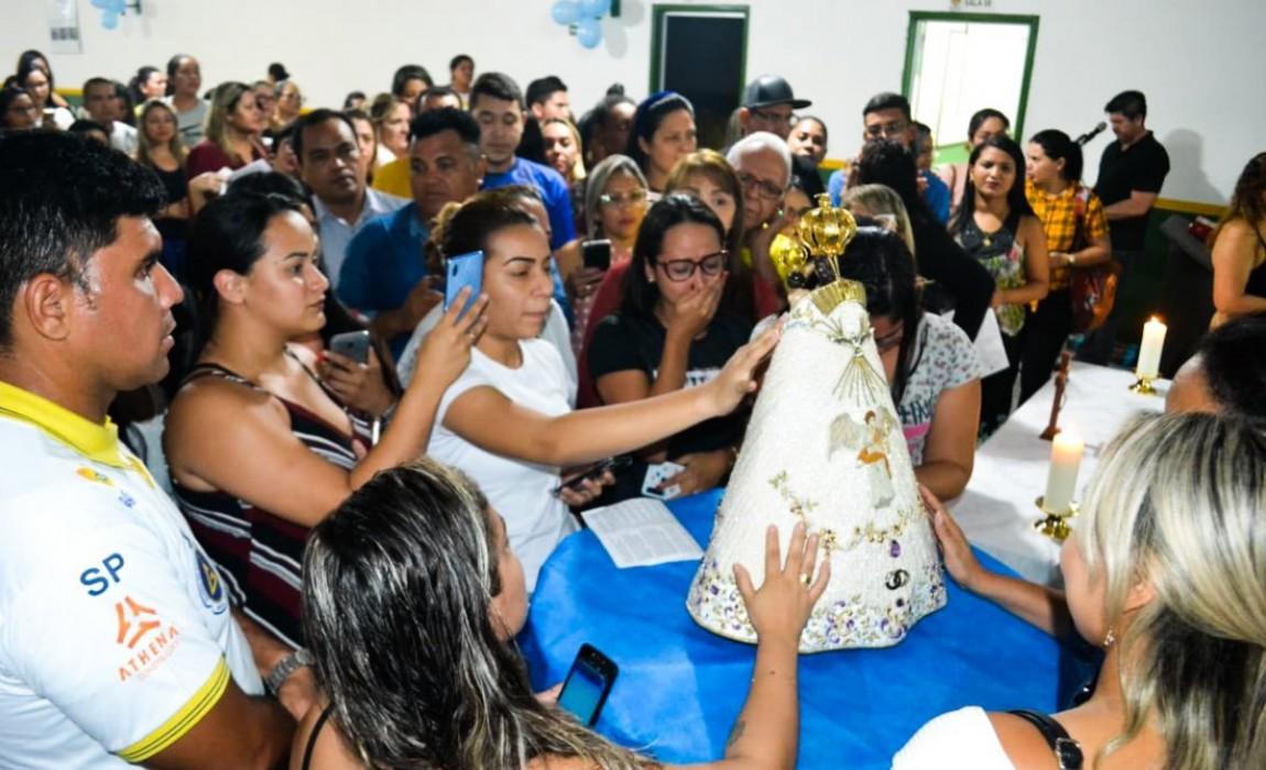 Círio da Esamaz é celebrado com missa e visita da imagem peregrina de Nossa Senhora de Nazaré