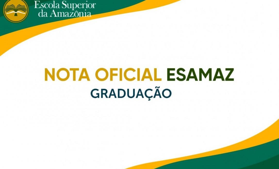 Comunicado Esamaz: Graduação