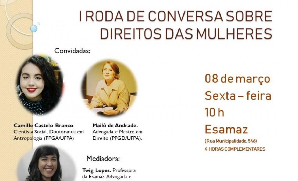 Curso de Direito vai promover roda de  conversa sobre Direitos das Mulheres