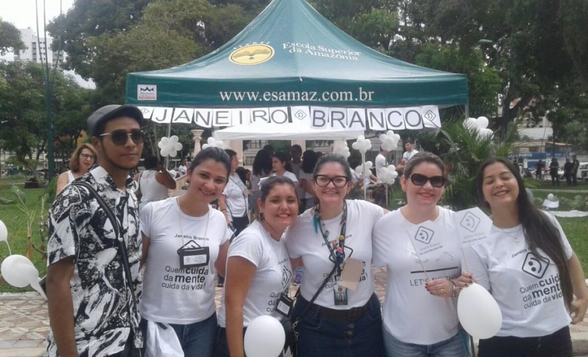 Curso de Psicologia da Esamaz participa da campanha Janeiro Branco, em Belém