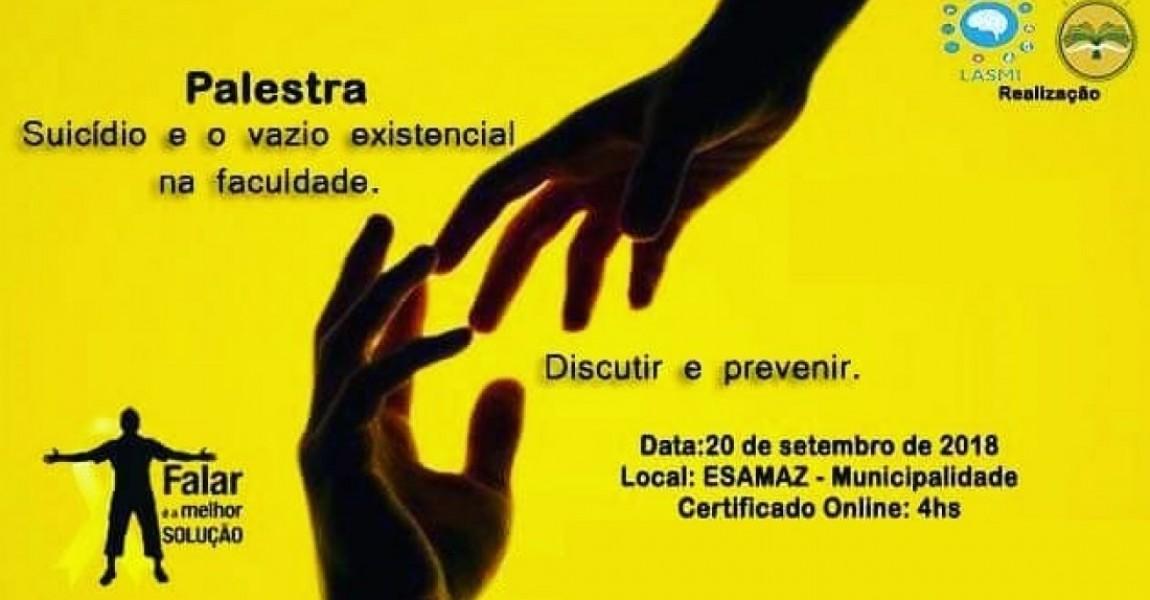 Curso de Psicologia e Enfermagem promovem palestras sobre combate ao suicídio no próximo dia 20