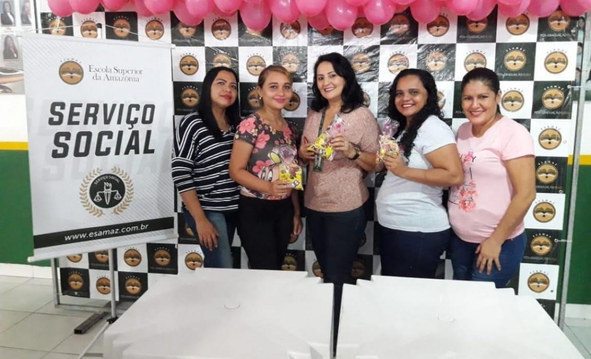 Curso de Serviço promove ação do Outubro Rosa para comunidade acadêmica da Esamaz