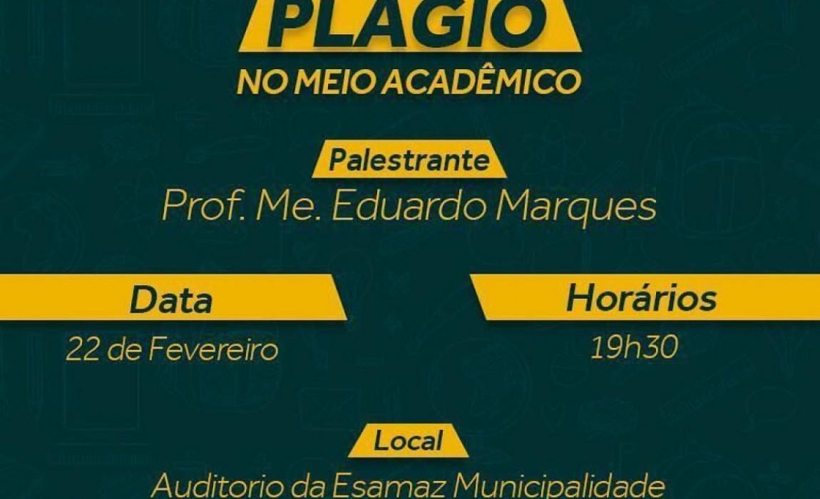 Curso de Serviço Social promove palestra sobre Plágio no meio acadêmico