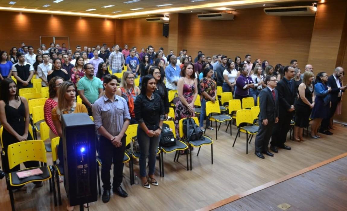 Desembargador do TRT e Vice-Presidente da OAB-Pa na abertura da I Semana do Curso de Direito da Esamaz