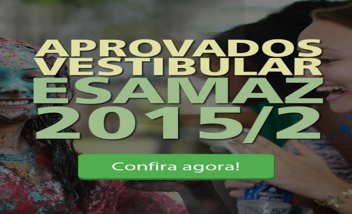Esamaz divulga listão dos aprovados no Vestibular 2015/2