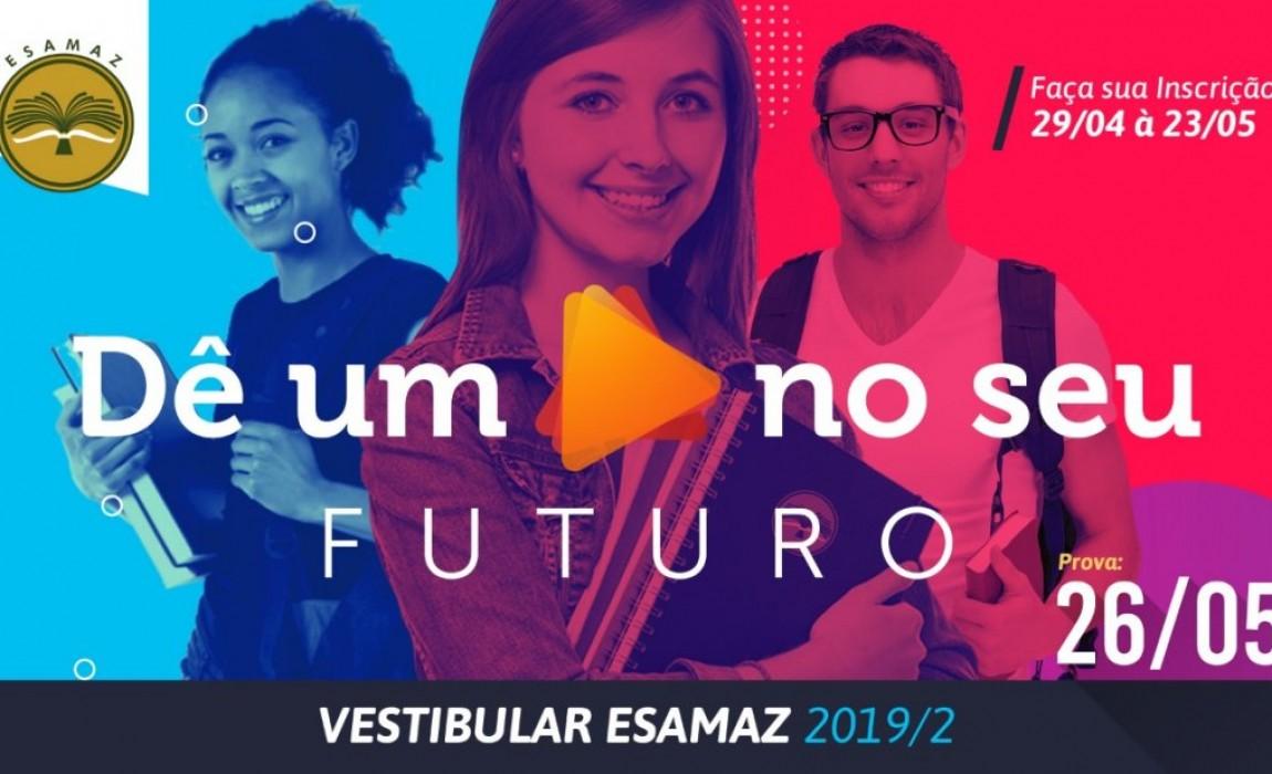 Esamaz abre inscrições para o Vestibular 2019/2. Tres novos cursos serão ofertados