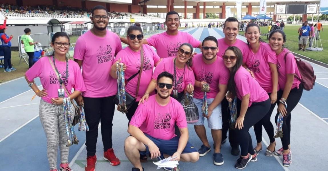 Esamaz coordenou equipes de apoio da Corridinha do Círio 2018 no Mangueirão