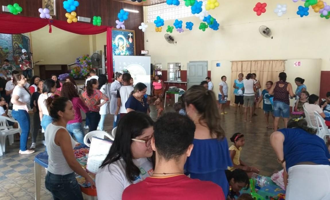 Esamaz participa de ação social no Santuário de Nossa Senhora do Pérpetuo Socorro, em Belém