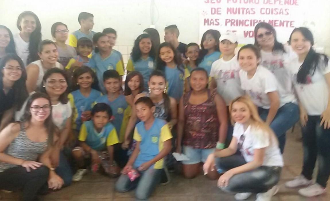Alunos de Fisioterapia participam de atividade em Ananindeua.