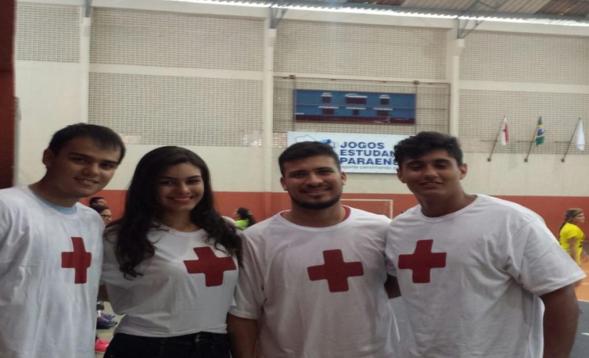 Curso de Fisioterapia da Esamaz orienta atletas dos Jogos Estudantis do Pará