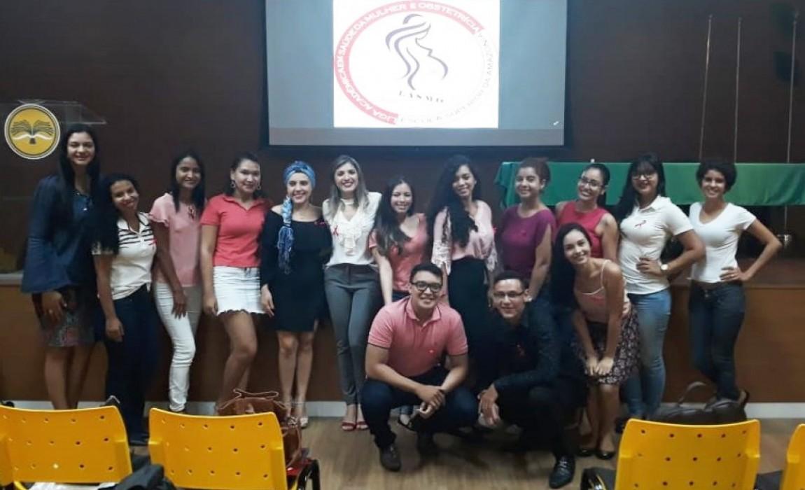 Outubro Rosa é tema de evento realizado pela Liga Acadêmica em Saúde da Mulher e Obstetrícia da Esamaz