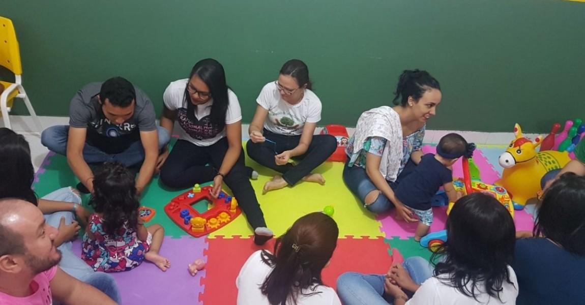 Projeto Brincarte reúne pais e filhos em atividades lúdicas na Esamaz