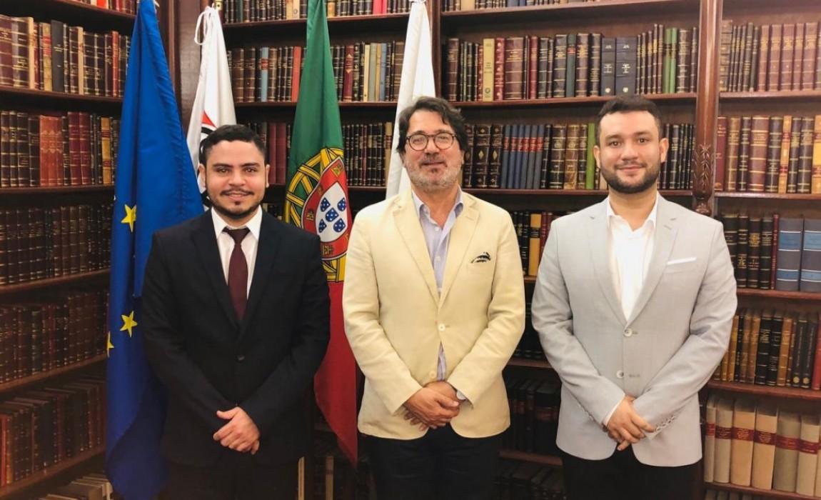 Representantes do Curso de Direito da Esamaz são recebidos pelo presidente da Ordem dos Advogados de Portugal