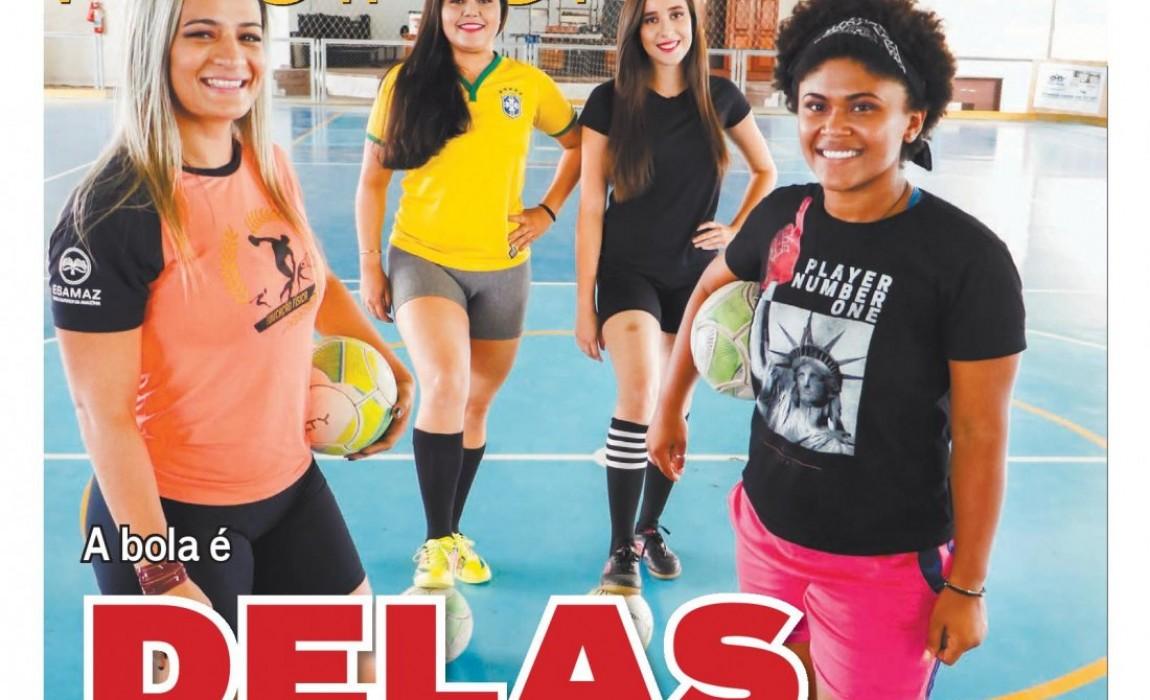 Time de futsal feminino da ESAMAZ é destaque na Revista Mulher de O Liberal