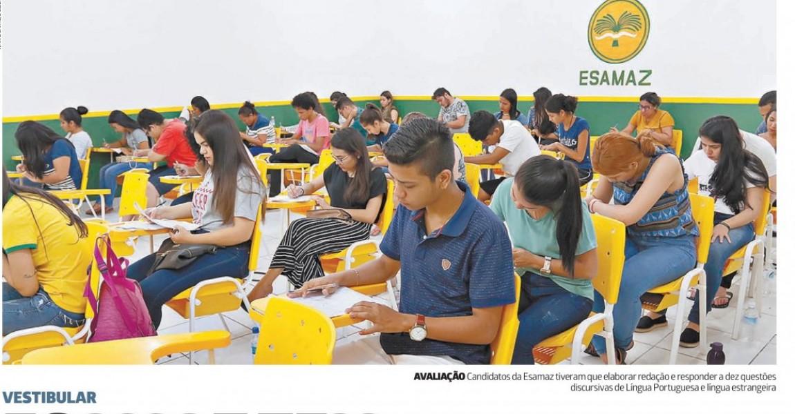 Vestibular da Esamaz 2019/1 é destaque no jornal O Liberal