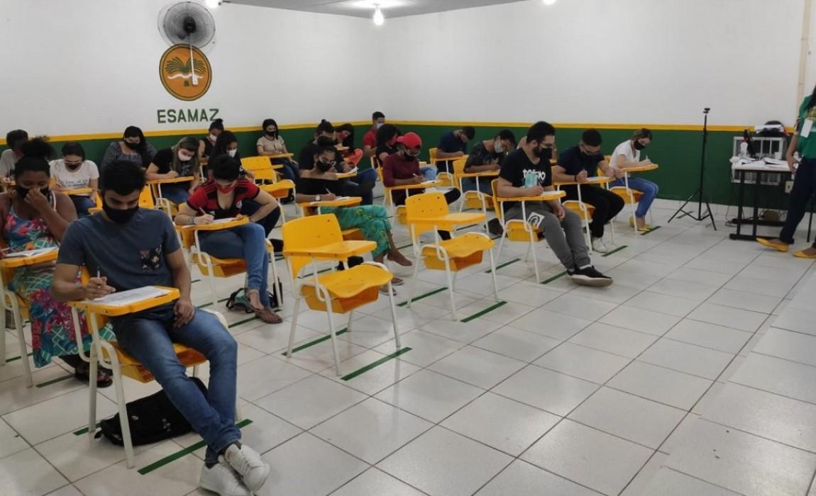 Vestibular tradicional da Esamaz para o primeiro semestre de 2021 aconteceu ontem, em Belém