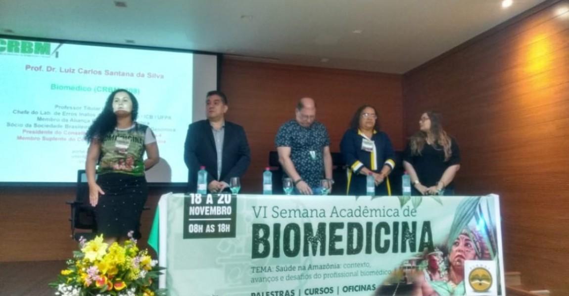 VI Semana Acadêmica de Biomedicina começou nesta segunda-feira, dia 18, na Esamaz