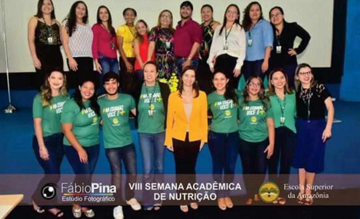 VIII Semana Acadêmica de Nutrição é aberta com palestra na Esamaz