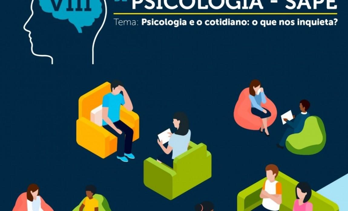 VIII Semana Acadêmica de Psicologia vai acontecer nos dias 21 e 22 de maio. Inscrições abertas!